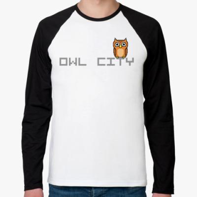 Футболка реглан с длинным рукавом  Owl City