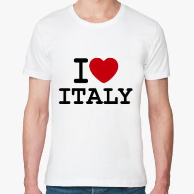 Футболка из органик-хлопка   I Love Italy