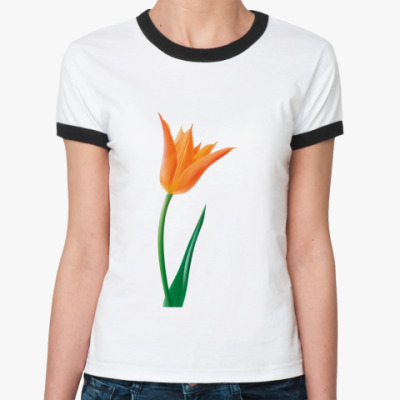 Женская футболка Ringer-T Тюльпан