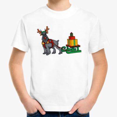 Детская футболка Новогодний Шнауцер