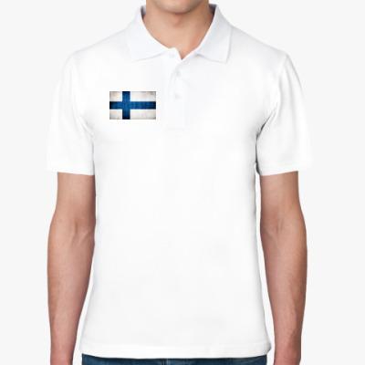 Рубашка поло  'Финский флаг'