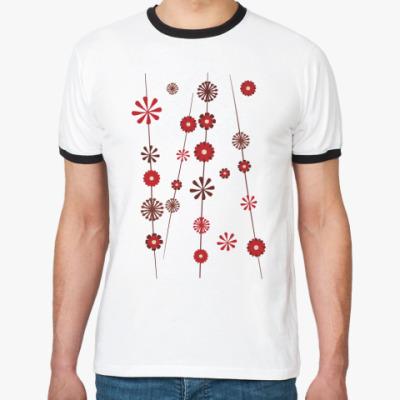 Футболка Ringer-T Цветочки