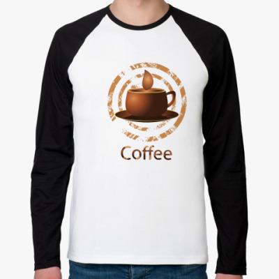 Футболка реглан с длинным рукавом coffee