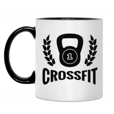 Кружка Кроссфит логотип с гирей