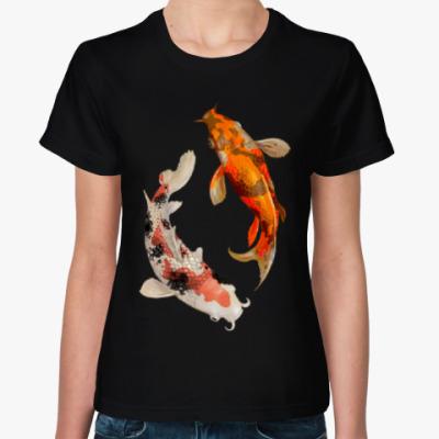 Женская футболка Инь-Ян рыбы