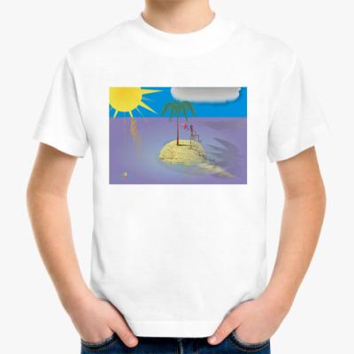 Детская футболка  Островок