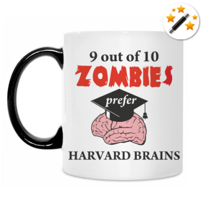 Кружка-хамелеон Harvard brains