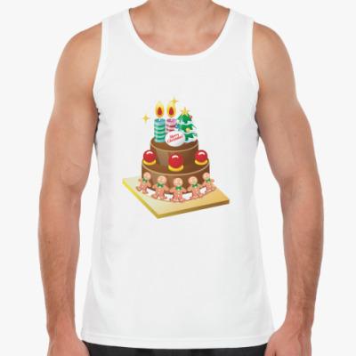 Майка Рождественский торт