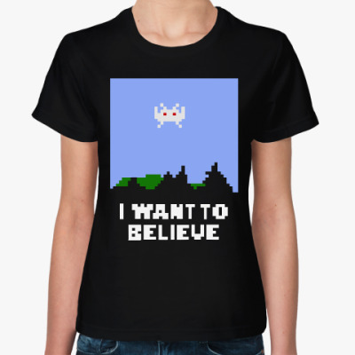 Женская футболка Хочу Верить