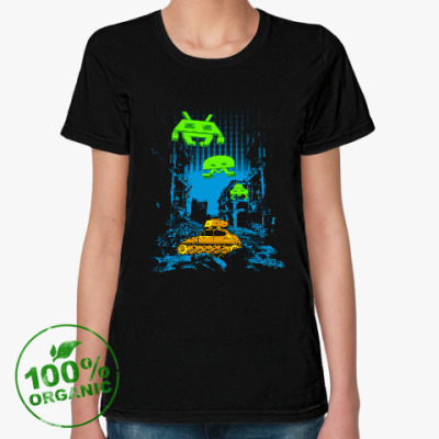 Женская футболка из органик-хлопка Space Invaders