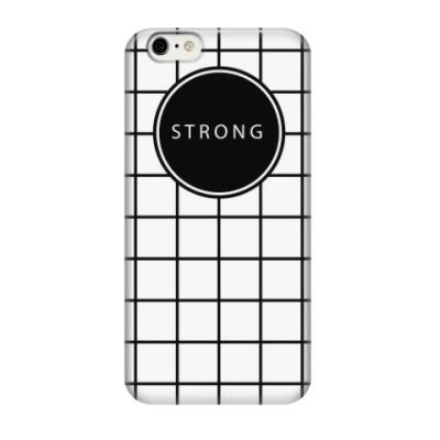 Чехол для iPhone 6/6s Минималистичный принт STRONG