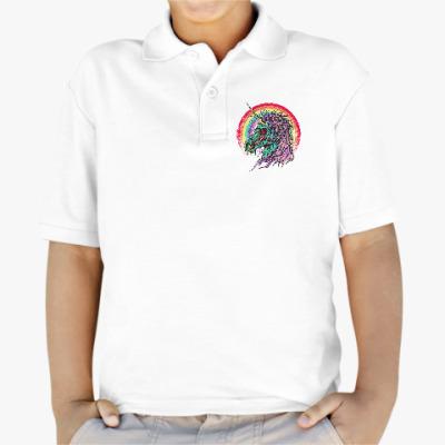 Детская рубашка поло Зомби единорог