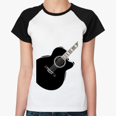 Женская футболка реглан Гитара