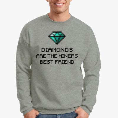 Свитшот Minecraft - diamonds