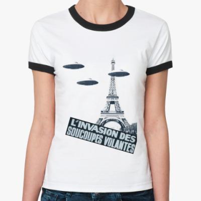 Женская футболка Ringer-T l'invation