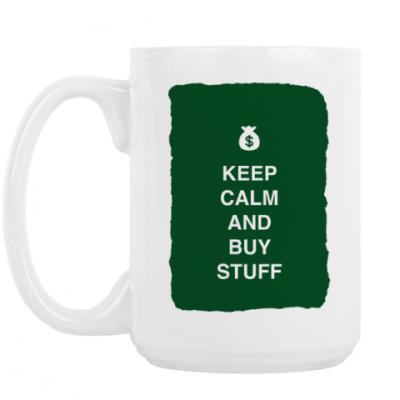 Кружка Keep calm and buy stuff
