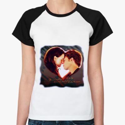 Женская футболка реглан двухсторонняя футболка