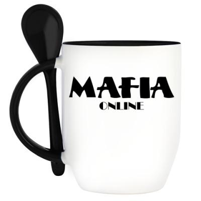 Кружка с ложкой Кружка с ложкой (черн.) Logo