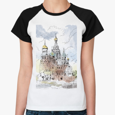 Женская футболка реглан Собор Спас-на-Крови