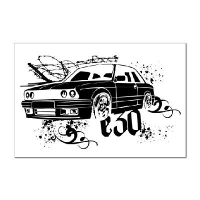 Наклейка (стикер) BMW E30