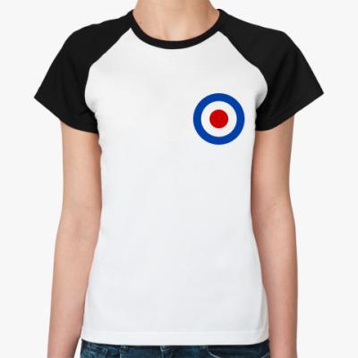 Женская футболка реглан  Mod target