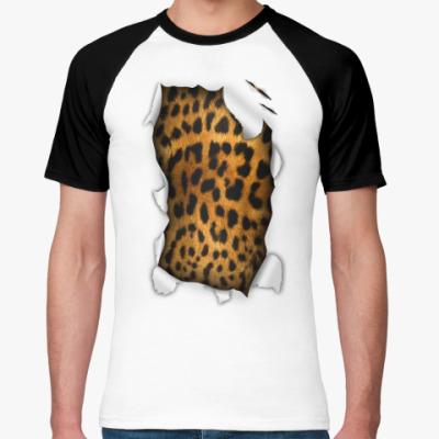 Футболка реглан 'Леопард'