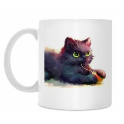 Кружка Черный Котик