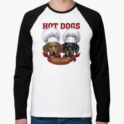 Футболка реглан с длинным рукавом  Hot Dogs