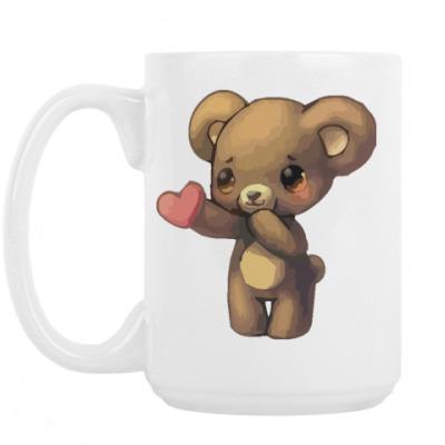 Кружка Медвежонок дарит сердечко