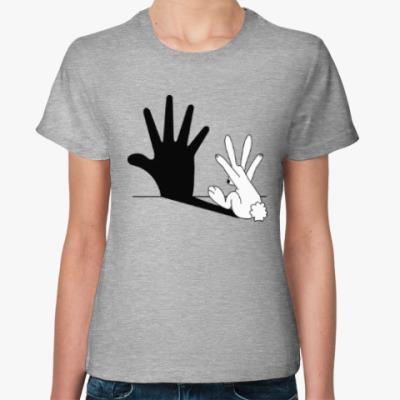 Женская футболка Заяц