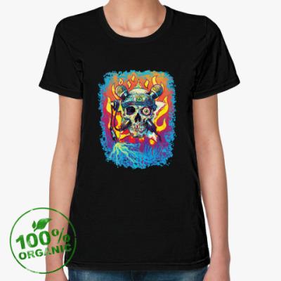 Женская футболка из органик-хлопка Music Skull