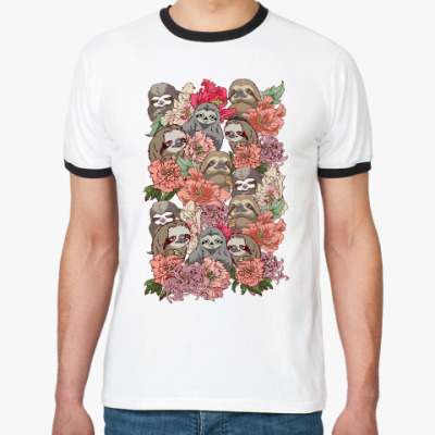 Футболка Ringer-T Ленивцы в цветах