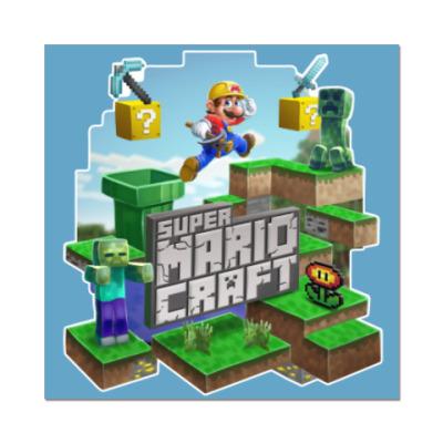 Наклейка (стикер) Super Mario Craft