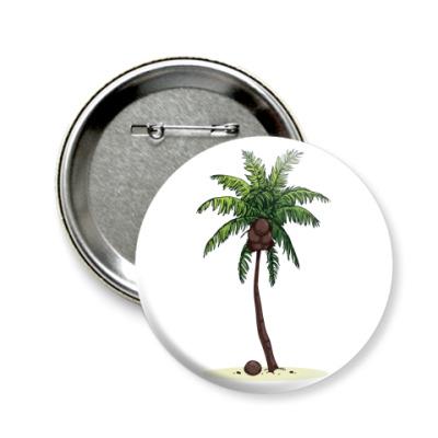 Значок 58мм Кокосовая пальма