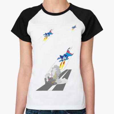 Женская футболка реглан Русские Витязи