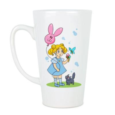Чашка Латте Малышка Усаги Sailor moon