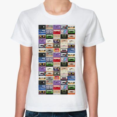 Классическая футболка аудиокассеты
