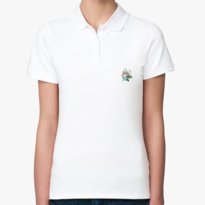 Женская рубашка поло Зайка Луна