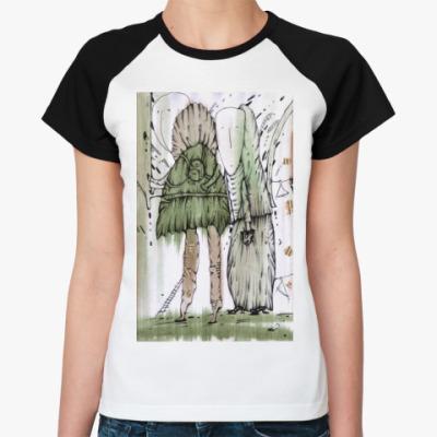 """Женская футболка реглан  Жен. """"Шкафный мир"""""""