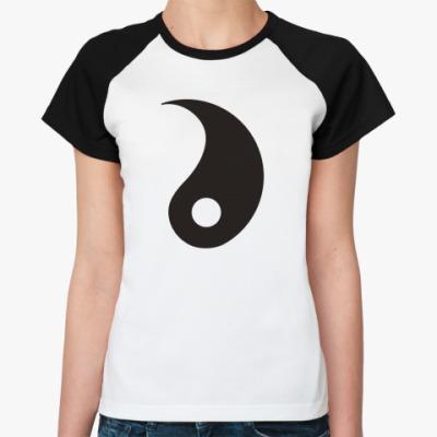 Женская футболка реглан Инь.