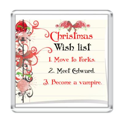 Магнит  Christmas wish list