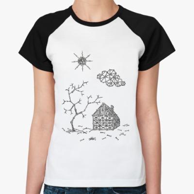 Женская футболка реглан House from bones