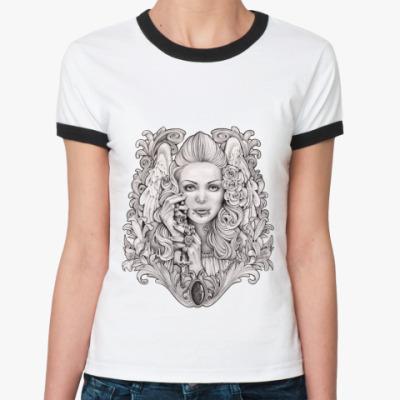Женская футболка Ringer-T Praying Angel