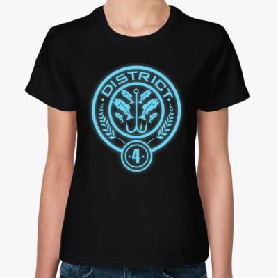 Женская футболка Голодные Игры (District 4/ Дистрикт 4)