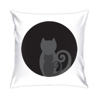Подушка Кошачьи тени