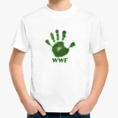 Детская футболка WWF. Дай пять!