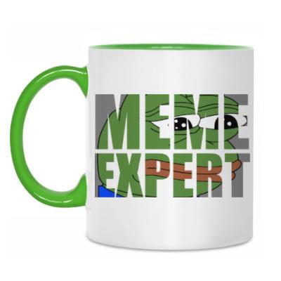 Кружка Meme Expert (Sad Pepe)