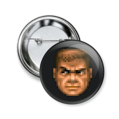 Значок 50мм Чувак из Doom II 100%