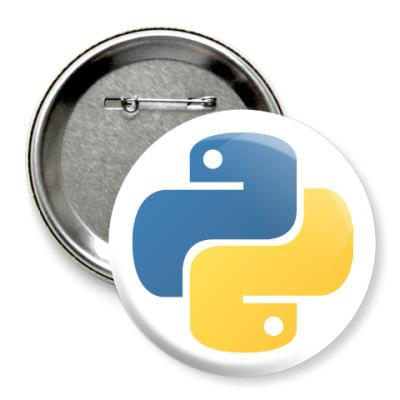 Значок 75мм Python