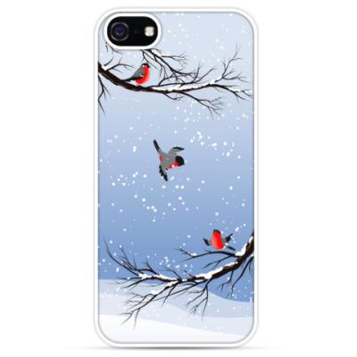 Чехол для iPhone Снегири